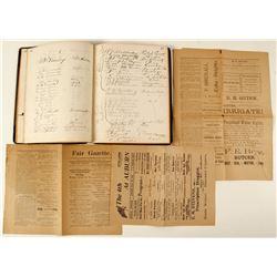 Autograph Book of Citrus Fair & Marketing Papers
