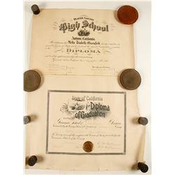 Certificate of Graduation from Grammar School & High School