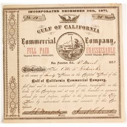 Gulf of California Commercial Company Stock