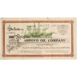 Arroyo Oil Company Stock Certificate