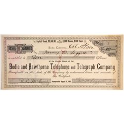Bodie & Hawthorne Telephone & Telegraph Company Stock