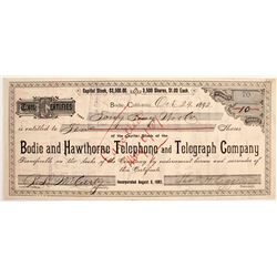 Bodie and Hawthorne Telephone & Telegraph Stock to Bodie's Tong Boss!