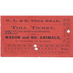 Walker Lake & Bodie Toll Road with RARE Ticket