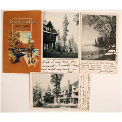 Early Tahoe Tavern Auto Brochure Plus Postcards