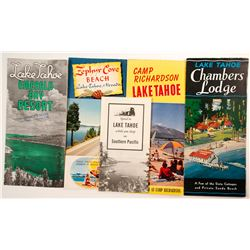 Group of Lake Tahoe Resort Brochures