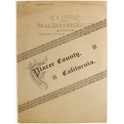 Placer County, CA  Promo Brochure