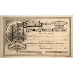 California Land and Timber Company Stock