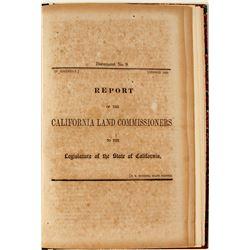 Report of the California Land Commissioner to the Legislature