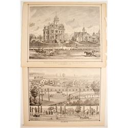 Three Lithographs of Early Sacramento