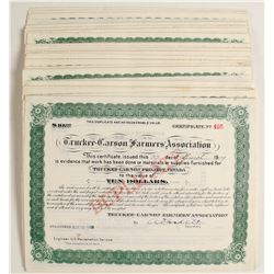 Truckee-Carson Farmer's Association Stock Certificates (100)