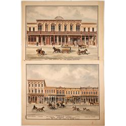 Main Street Woodland Handcolored Lithographs