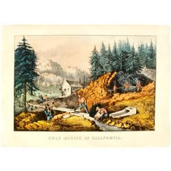 Currier & Ives Gold Mining In California