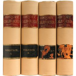History of California -- Four Volumes, by T. Hittell