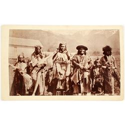 Photo of 6 Native Americans (Chief, Sons & Grandsons)