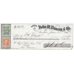 Amazing Story of the Duncan Brothers through Checks, Billheads and Postal History
