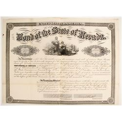 Bond of the State of Nevada issued to William Ralston