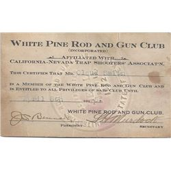 White Pine Rod and Gun Club ID (two year organization?)