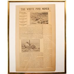 Unique 'White Pine Miner' Newspaper