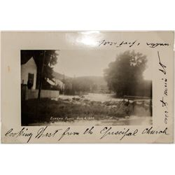 1926 RPC of a flood in Eureka, Nevada