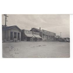 Rare early McGill, Nevada RPC of Main Street