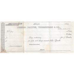 Extremely Rare Bankers Receipt from a Very Hard to Research Nevada Ghost Town, Millville, Nevada Ter
