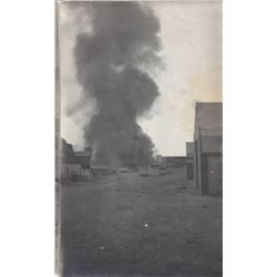 Five photographs of the Rawhide fire
