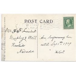 Postcard addressed to Murphy's Well, Rawhide, Nevada