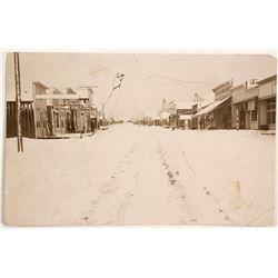 Rare Snow Scene RPC, Rawhide, Nevada