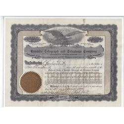 Rawhide Telegraph and Telephone Company Stock Certificate