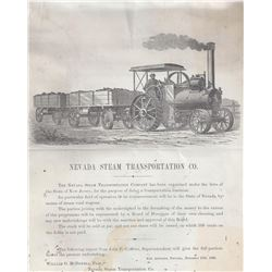 Nevada Steam Transportation Company Prospectus and Organization Papers