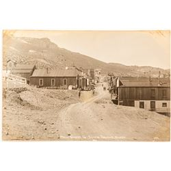 Main Street Seven Troughs Real Photo Postcard