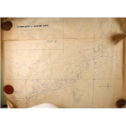 1874 Ross E Browne Map of Silver City, Nevada
