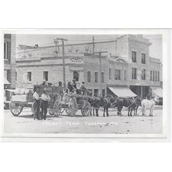 Freight Team in Tonopah in Front of Golden Saloon