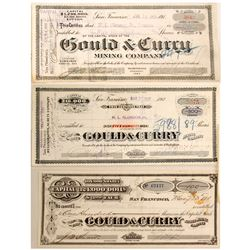 Gould and Curry Mining Stocks, 3 Different
