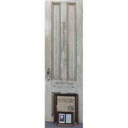 Territorial Enterprise Marked Door, c 1870's