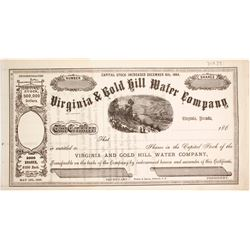 Virginia & Gold Hill Water Company Stock