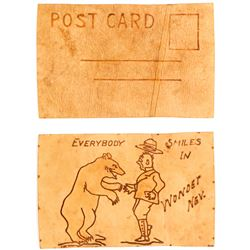 Ghost Town Leather Post Card