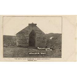 Wonder, Nevada Bachelor's Club Postcard