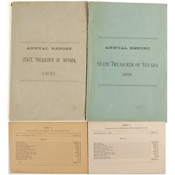 Annual Report, State Treasurer of Nevada, 1888 and 1890