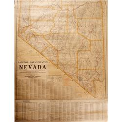 c1930 Nevada School Roll Down Map