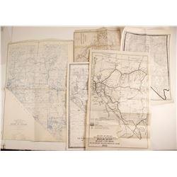 Five Nevada Maps