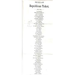 Nevada Political Documents: Republican Ticket, Election Results, Key Pittman Letter