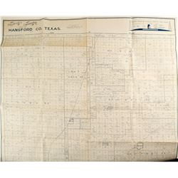 Map of Hansford County, Texas