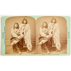 Stereoview Native Americans, Bride & Groom
