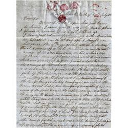 1850 Letter that Gives Lake Tahoe a New Name! Contains Great Content
