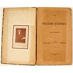 Book Williams Quarterly, Volume V.