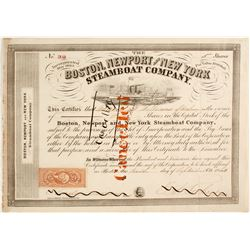 Boston, Newport & New York Steamboat Co. Stock Certificate