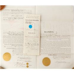 Pair of Central Pacific Railroad Deeds