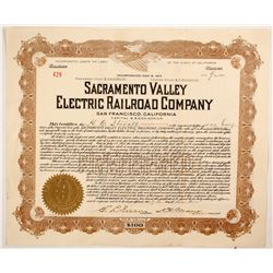 Sacramento Valley Electric Railroad Co. stock