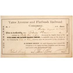 # 1Yates Avenue and Flatbush Railroad Company Stock Certificates